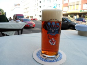 Glass of Alt in Dusseldorf