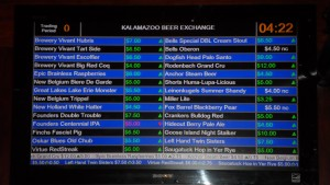 Kalamazoo Beer Exchange Beer Price Ticker