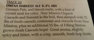 Omena Harvest Ale Description