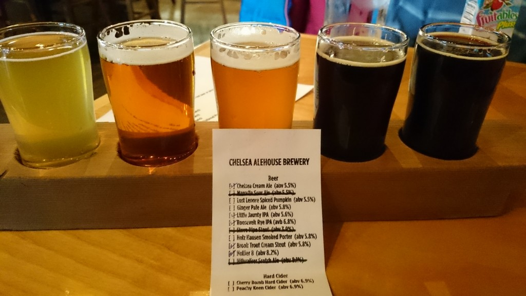 Chelsea Alehouse Beer Flight